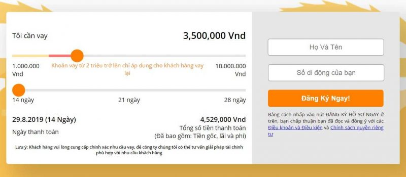 vay online tại one click money